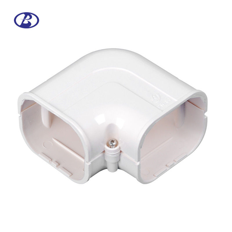 100mm AC Duct Kits Air Conditioner Pipe Cover Fitting PVC Plane Corner leverancier